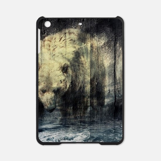 cabin rustic grizzly bear iPad Mini Case