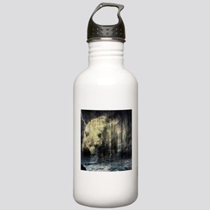 cabin rustic grizzly b Stainless Water Bottle 1.0L
