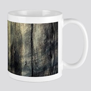 cabin rustic grizzly bear Mugs