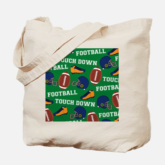 Football Collage Tote Bag