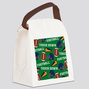 Football Collage Canvas Lunch Bag