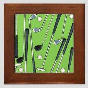 Golfing Framed Tile