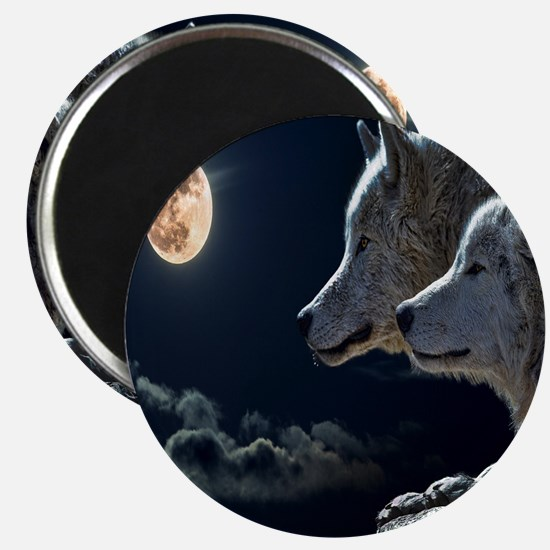Full Moon Wolves Magnet