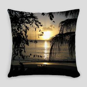 Ocean Beach Scene Everyday Pillow