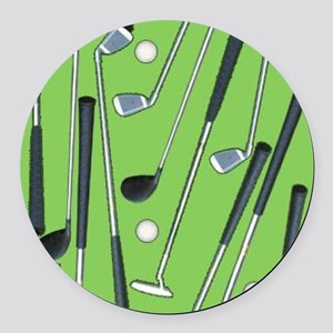Golfing Round Car Magnet