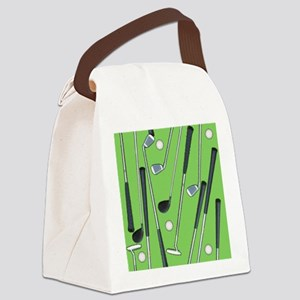 Golfing Canvas Lunch Bag