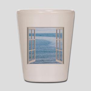 Ocean Scene Window Shot Glass