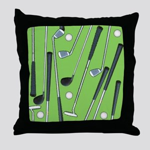 Golfing Throw Pillow