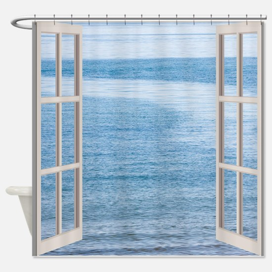 Ocean Scene Window Shower Curtain