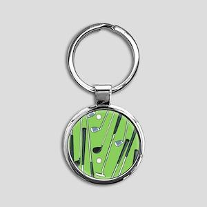 Golfing Round Keychain