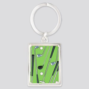 Golfing Portrait Keychain