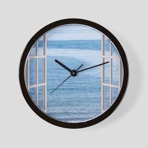 Ocean Scene Window Wall Clock