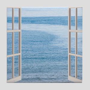 Ocean Scene Window Tile Coaster