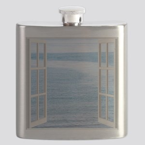 Ocean Scene Window Flask