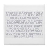 Inspirational quotes Tile Coasters