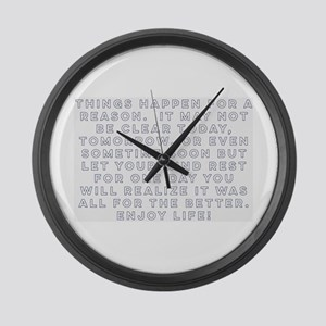 Realizations Large Wall Clock
