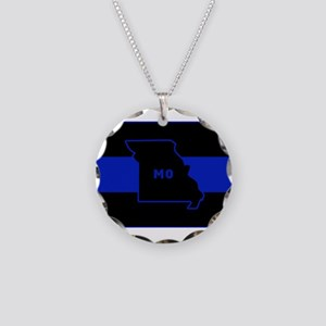 Thin Blue Line - Missouri Necklace Circle Charm