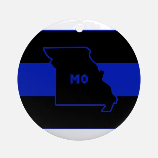 Thin Blue Line - Missouri Round Ornament