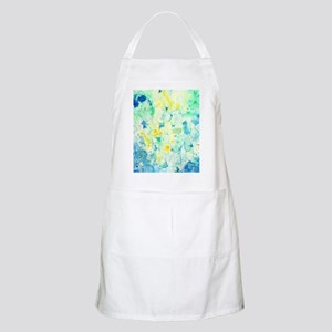 Abstract Watercolor Green and blue Pattern Apron
