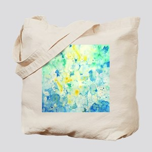 Abstract Watercolor Green and blue Patter Tote Bag