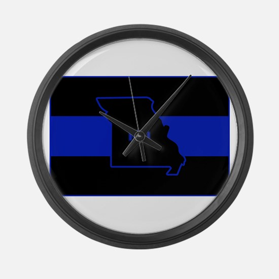 Thin Blue Line - Missouri Large Wall Clock
