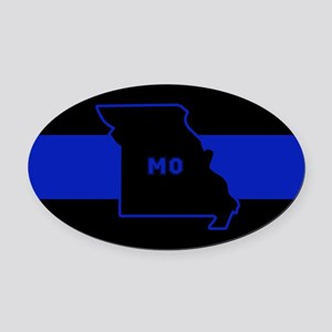 Thin Blue Line - Missouri Oval Car Magnet