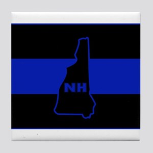 Thin Blue Line - New Hampshire Tile Coaster