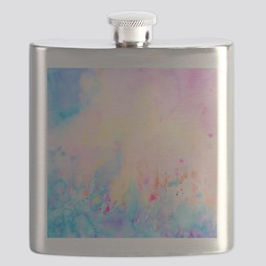 Watercolor Abstract Landscape Pattern Flask