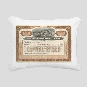 Anaconda Copper Mining Rectangular Canvas Pillow
