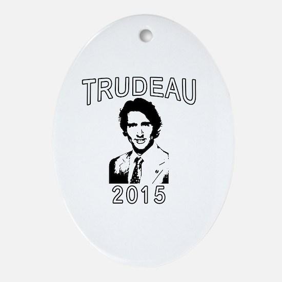 JUSTIN TRUDEAU 2015 Oval Ornament