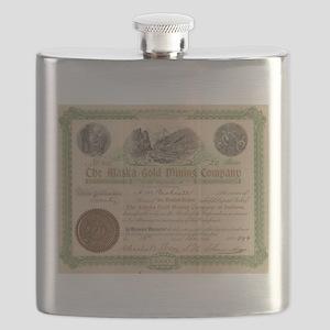 Alaska Gold Mining Flask