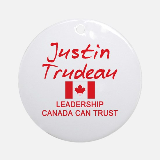 Cool Justin Round Ornament