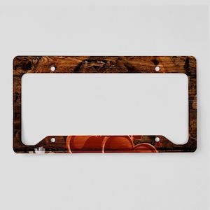 rustic barn wood horseshoe License Plate Holder