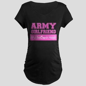 Army Girlfriend Ooo in Hooah_Pink Maternity T-Shir