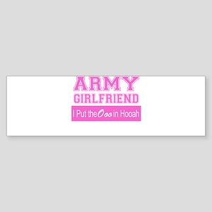 Army Girlfriend Ooo in Hooah_Pink Bumper Sticker