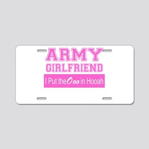 Army Girlfriend Ooo in Hooah_Pink Aluminum License