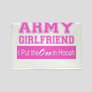 Army Girlfriend Ooo in Hooah_Pink Magnets
