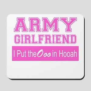 Army Girlfriend Ooo in Hooah_Pink Mousepad