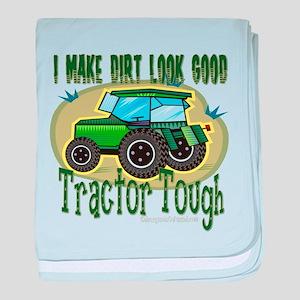 Tractor Tough baby blanket