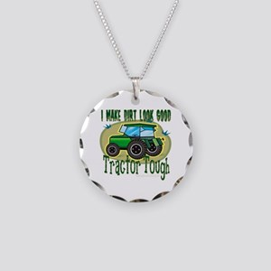 Tractor Tough Necklace Circle Charm