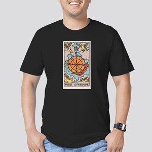 """Wheel of Fortune"" Men's Fitted T-Shirt (dark)"