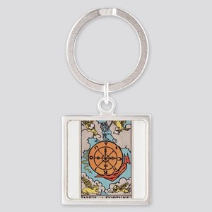 """Wheel of Fortune"" Square Keychain"