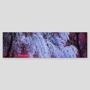 landscape purple cherry blossom Bumper Sticker
