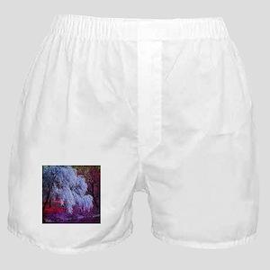 landscape purple cherry blossom Boxer Shorts