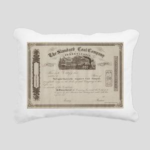 Standard Coal Company of Rectangular Canvas Pillow