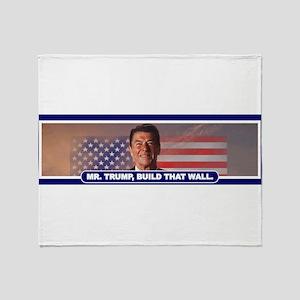 MR. TRUMP, BUILD THAT WALL Throw Blanket