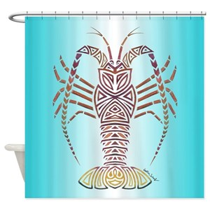 Caribbean Spiny Lobster Shower Curtains