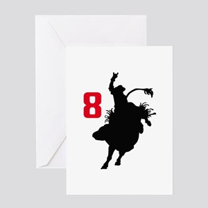 EIGHT SECOND RIDE Greeting Cards
