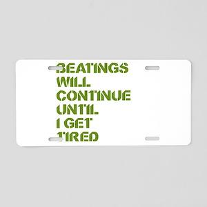 Beatings Aluminum License Plate