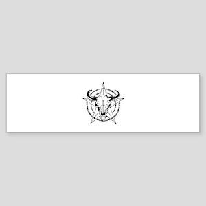 WESTERN STEER SKULL Bumper Sticker